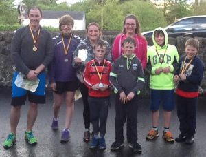 Parents and children from Carhill Integrated and St. Patrick's and St Joseph's Primary schools who competed in the Garvagh Primary Schools' Championship.