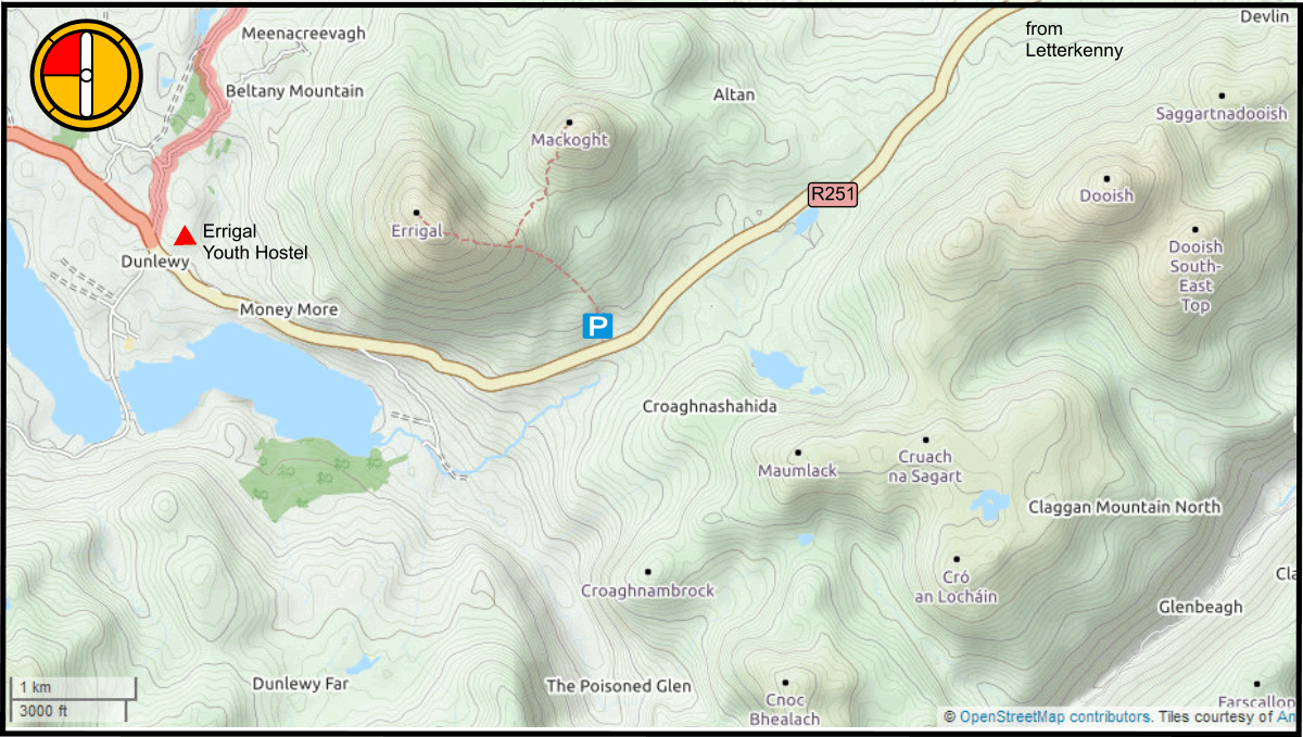 Map of Eriggal and surrounding area