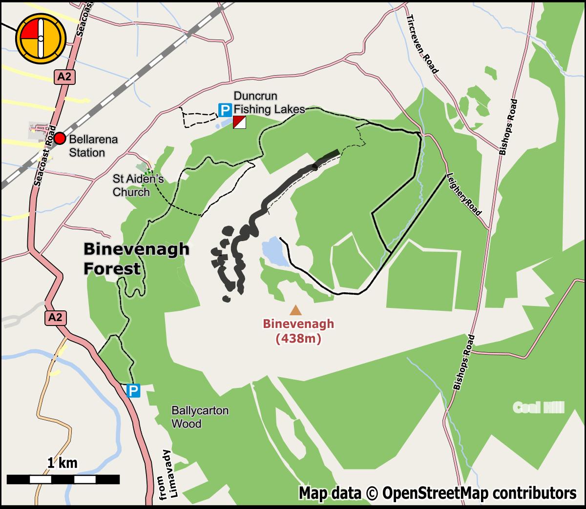 Duncrun Fishing Lakes Location Map