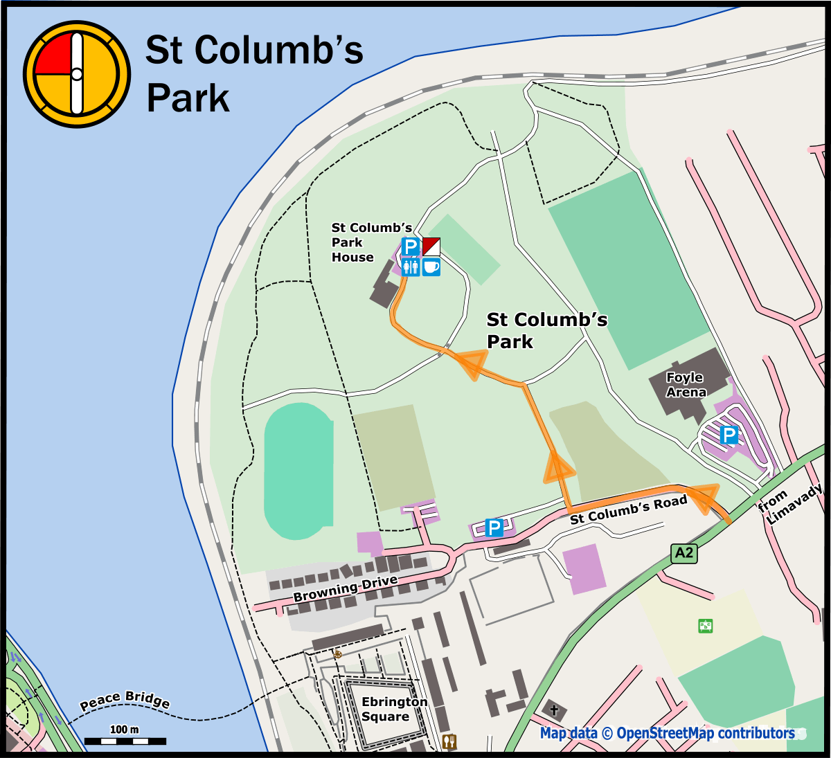 Map of St Columbs Park House 2019